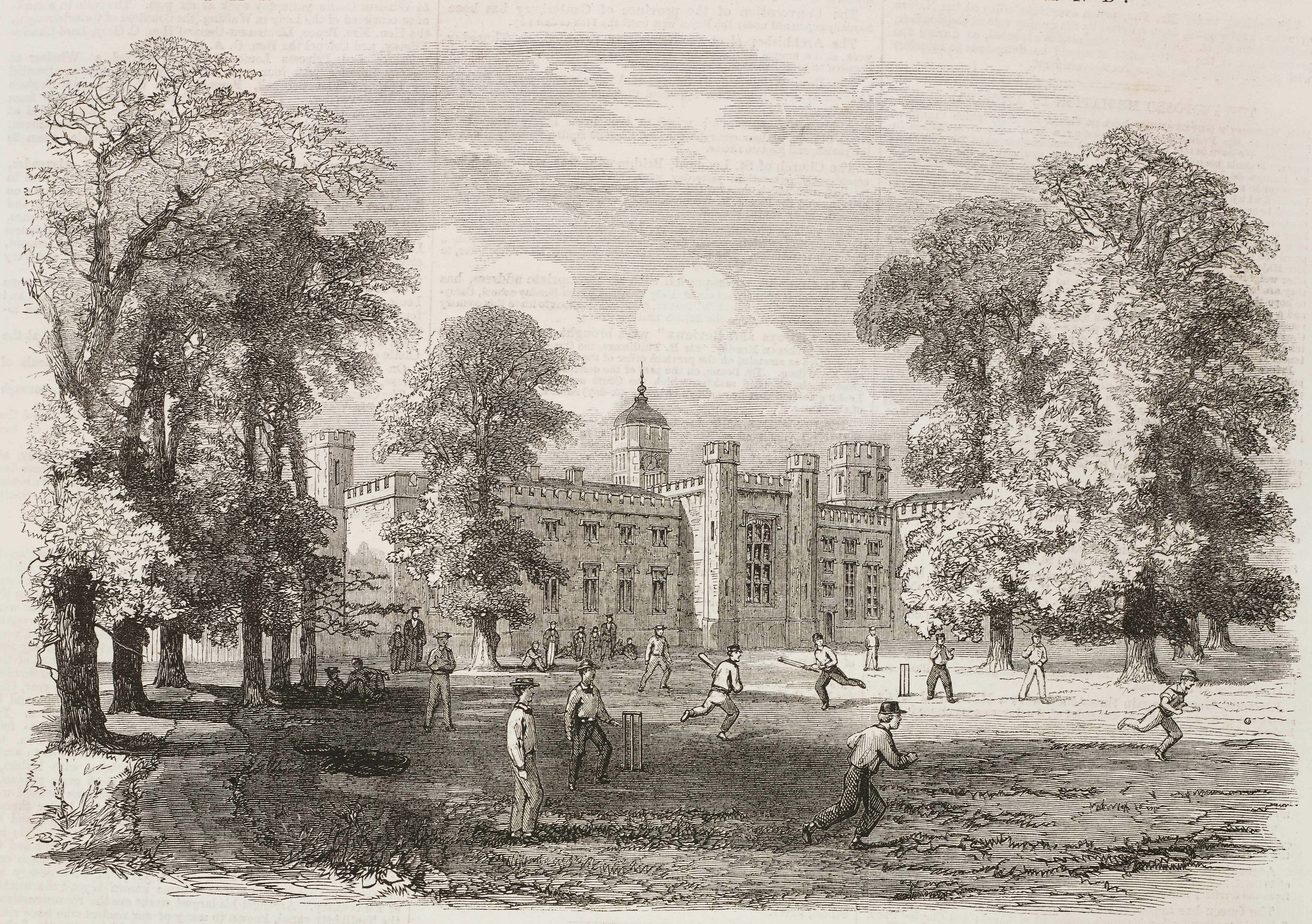 An illustration of Rugby school