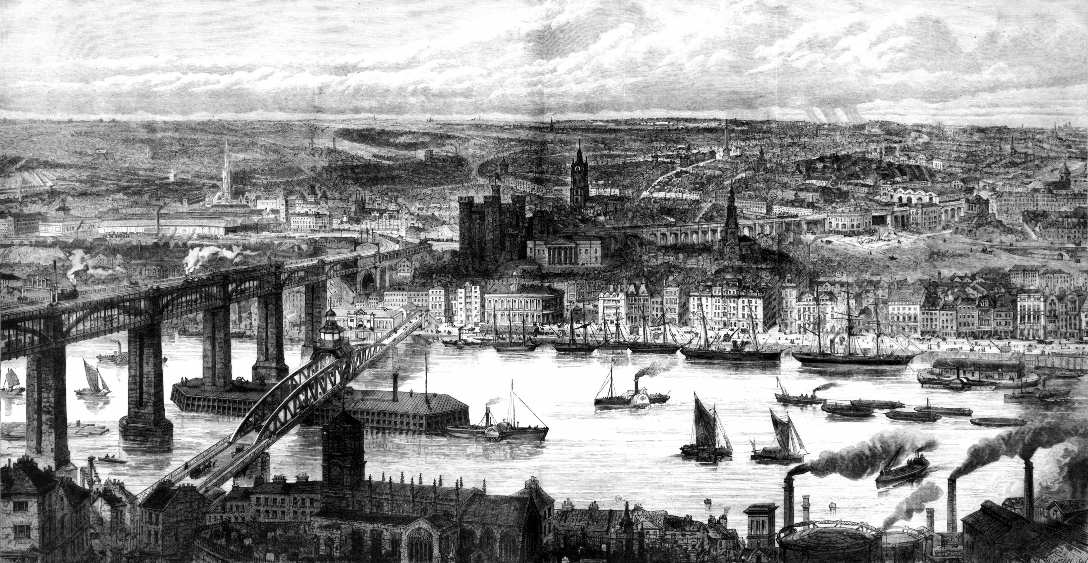 Newcastle upon Tyne, 1877, published in the Illustrated London News. (Photo by SSPL/Getty Images)