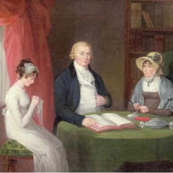 Group portrait at a drawing room table by Maria Spilsbury (1777-c1823). (Photo © Bonhams, London/Bridgeman Images)