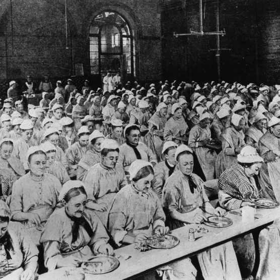 Dinner at a Victorian workhouse