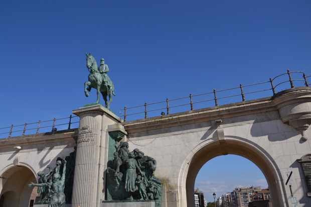Leopold II statue. (Getty Images)