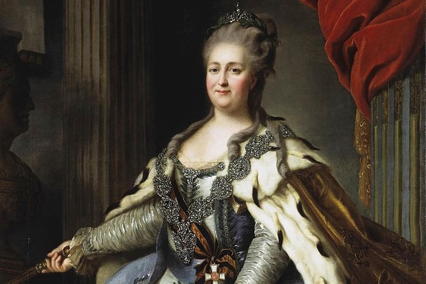 Queen of hearts: When Catherine's husband Tsar Peter III alienated his people, they instead turned to his wife, and she was proclaimed the rightful ruler.