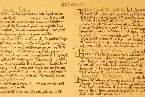 Extract from Domesday Book.