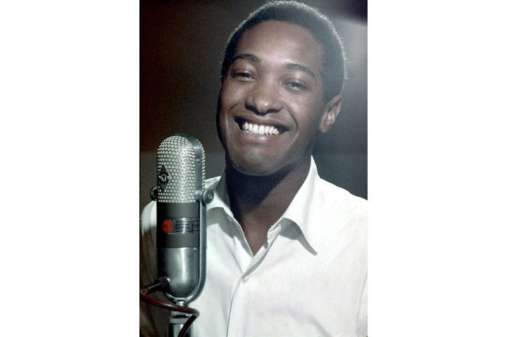Soul singer Sam Cooke recording in the RCA Studios c1959 in Los Angeles, California. (Photo by Jess Rand/Michael Ochs Archives/Getty Images)