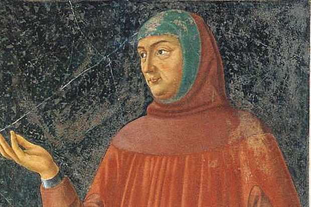 Italian poet Francesco Petrarch