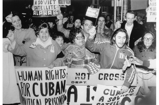 Anti-Castro protesters