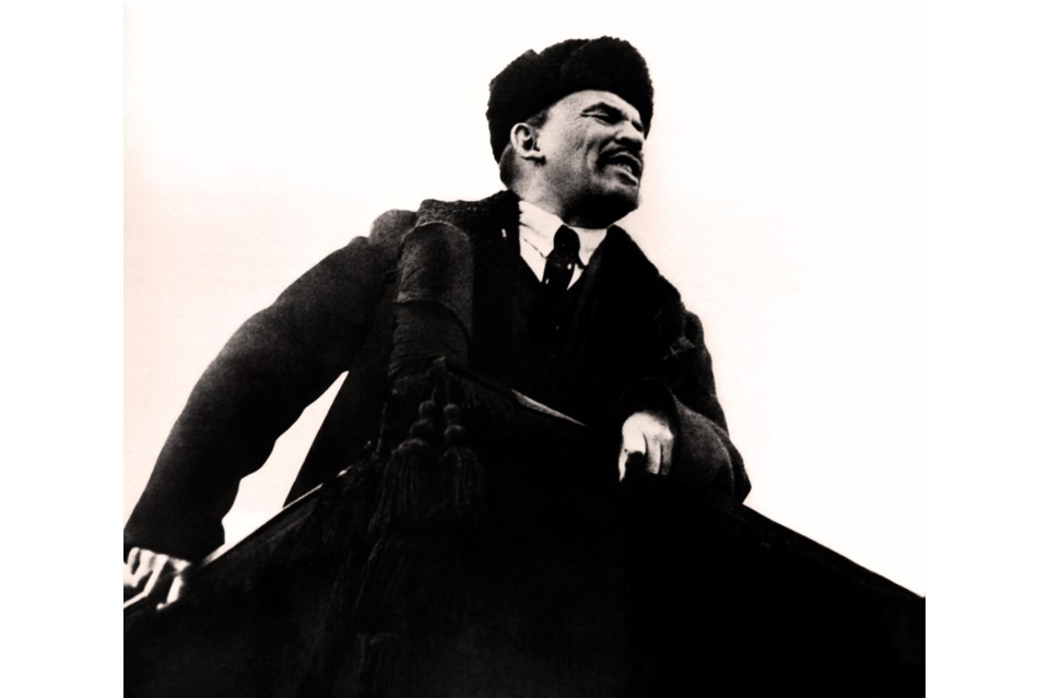 Photograph of Vladimir Lenin, 1901. (Photo by Universal History Archive/UIG via Getty Images)