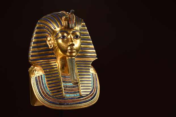 The burial mask of Tutankhamun. From the moment Howard Carter discovered Tutankhamun's tomb in The Valley of Kings in 1922, rumours swirled that a curse would fall on those who disturbed the Boy King's eternal slumber. (Photo by Hannes Magerstaedt/Getty Images)