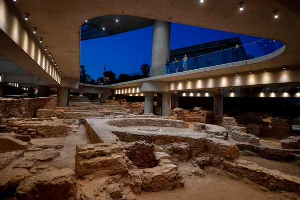 Acropolis Museum Athens, combines modern and ancient