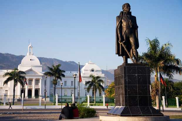 Statue of Toussaint Louverture, Palais National, Haiti. (Photo by Getty Images)