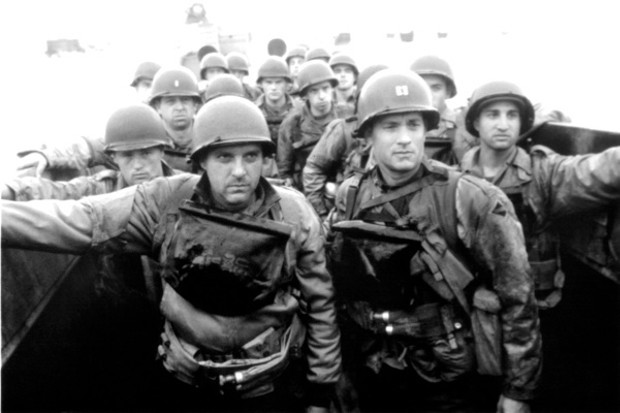 Tom Sizemore and Tom Hanks in 'Saving Private Ryan'. (Michael Ochs Archives/Getty Images)