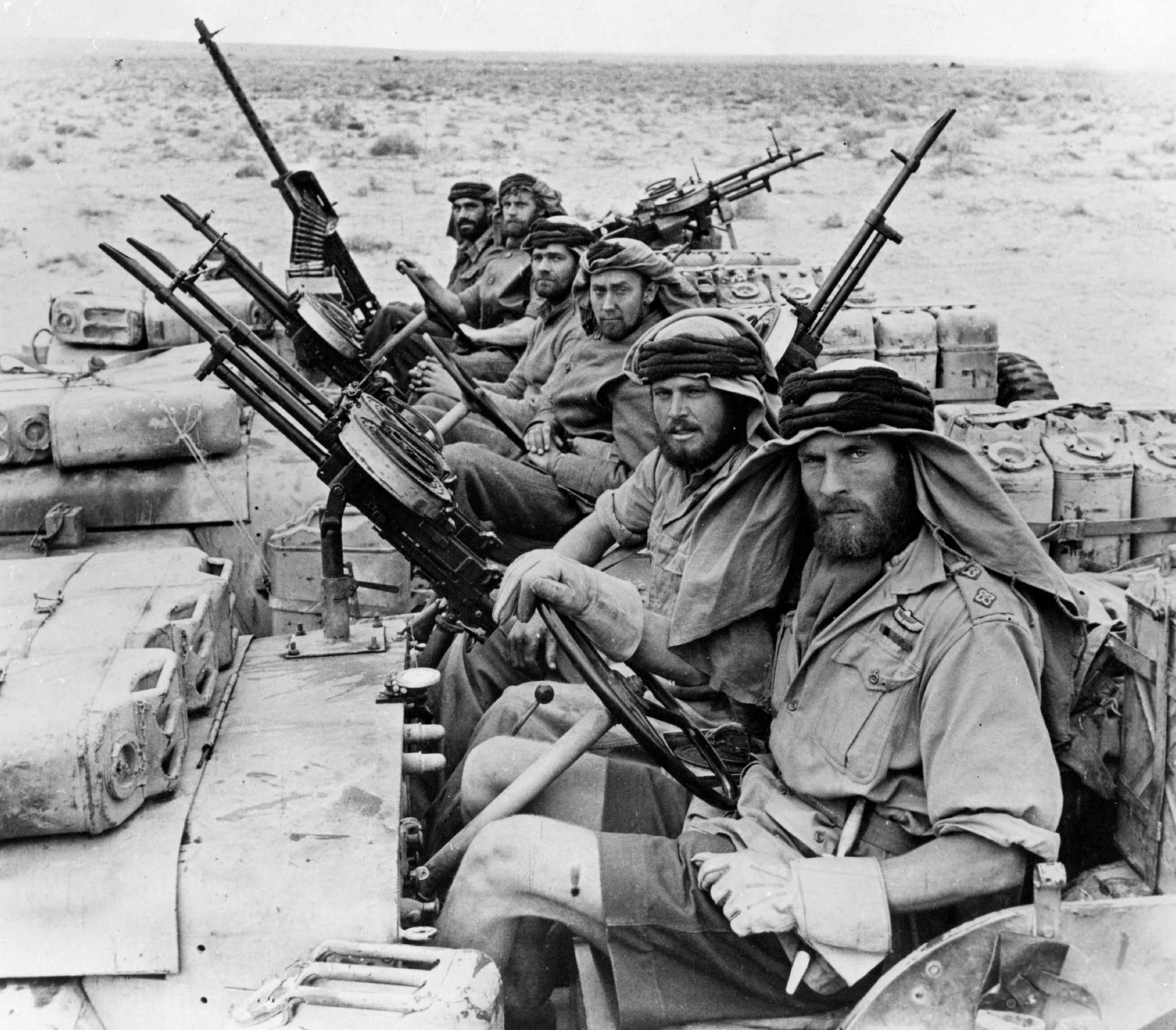 Men of the SAS returning from a three-month trip behind enemy lines during the war in North Africa. (Photo by Hulton Archive/Getty Images)