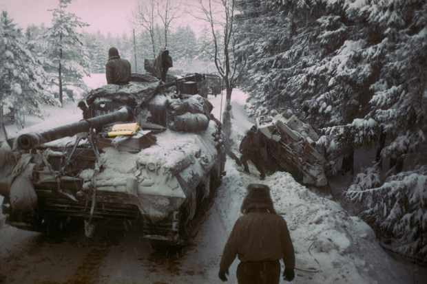 American forces advance through the Ardennes forest during the battle of the Bulge. (Photo by George Silk/The LIFE Picture Collection/Getty Images)
