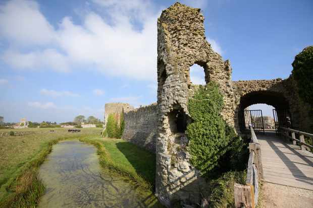 Pevensey Castle, England. First fortified by the Romans, William the Conqueror famously landed his army there in 1066 and a Norman castle was developed during the century after the Norman Conquest. (Photo by Leon Neal/Getty Images)