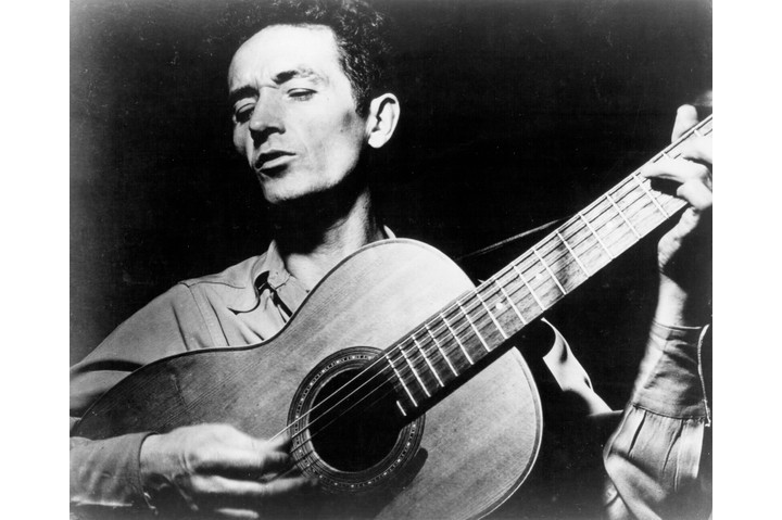 Photo of Woody Guthrie c1970. (Photo by Michael Ochs Archives/Getty Images)