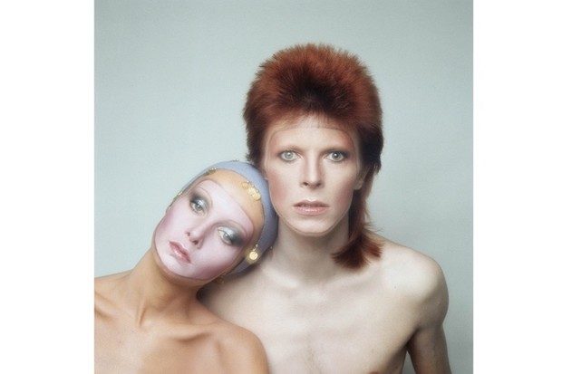 David Bowie and Twiggy
