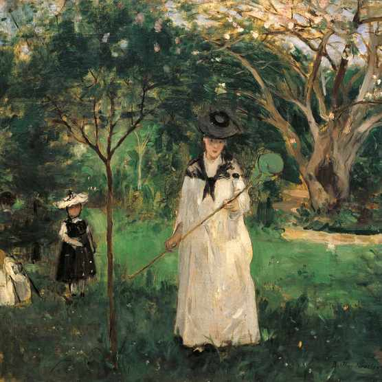 'The butterfly hunt' (1874) by Berthe Morisot