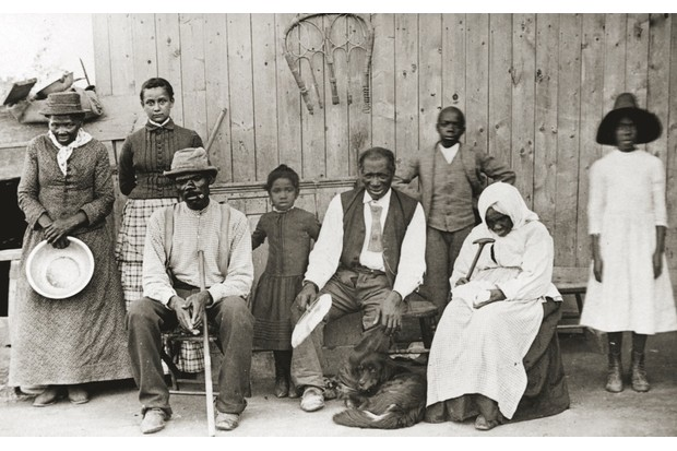 Harriet Tubman with her family and several elderly boarders from the Underground Railroad