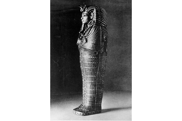 Side view of the outer coffin of Tutankhamun. (Photo by Time Life Pictures/Mansell/The LIFE Picture Collection/Getty Images)
