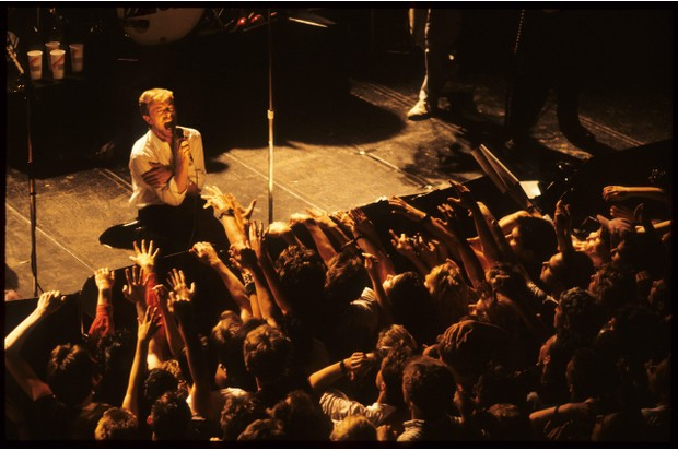 David Bowie performs with Tin Machine