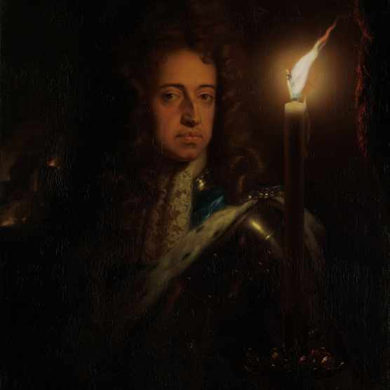 Portrait of William III of Orange (1650-1702) Artist: Schalcken, Godfried Cornelisz (1643-1706)