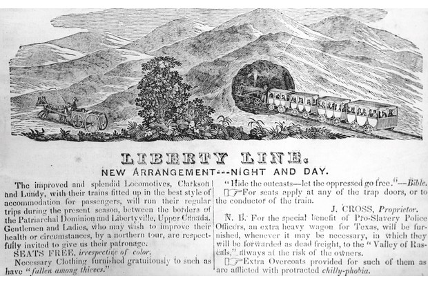An 1844 advertisement for the 'Liberty Line' – a thinly veiled reference to the Underground Railroad