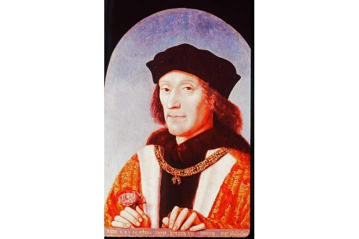A portrait of Henry VII, the first Tudor king of England, by Michiel Sittow. (Photo by Universal History Archive/Getty Images)