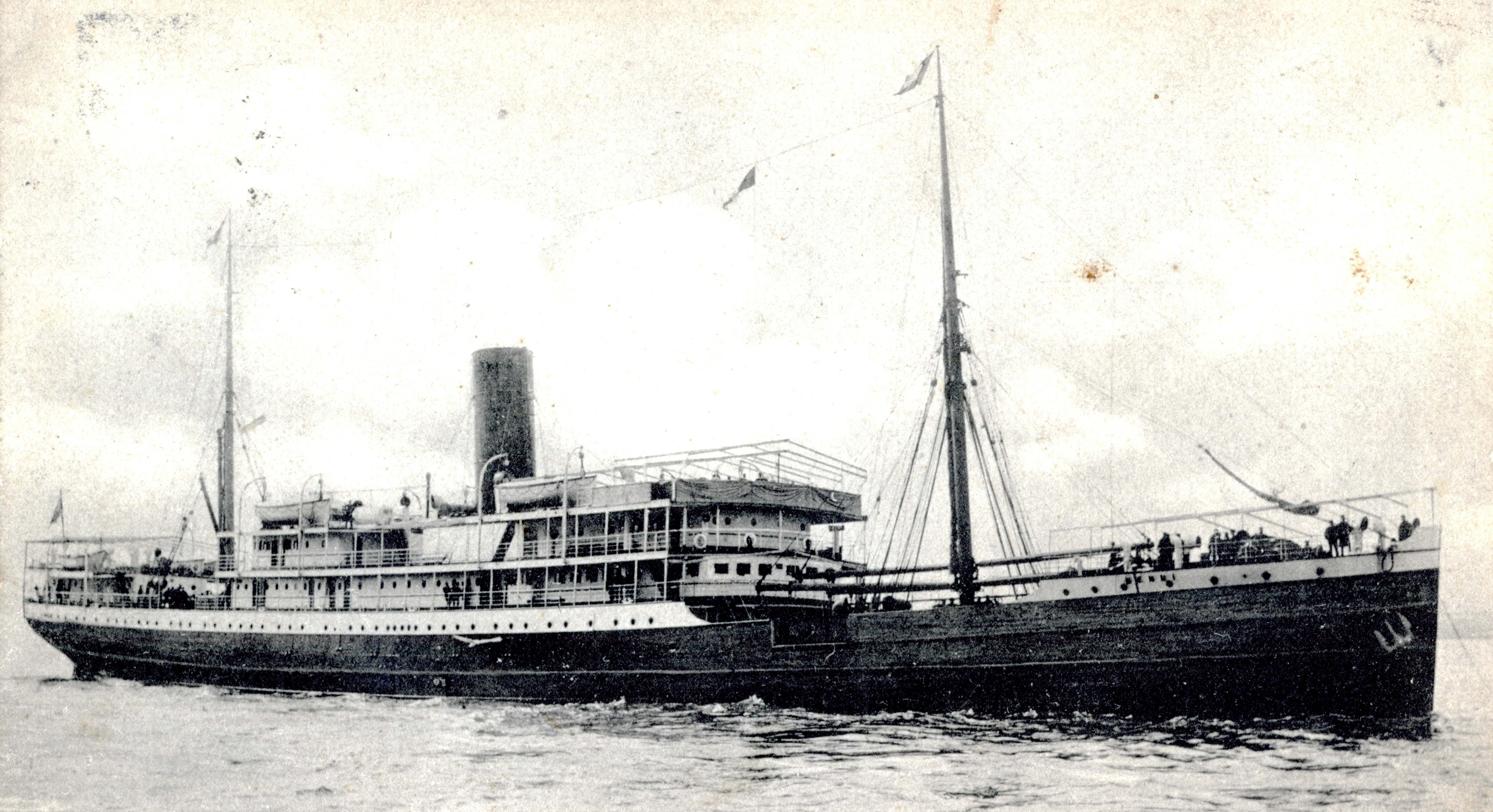 British & African Steam Navigation Company postcard showing the Mendi.