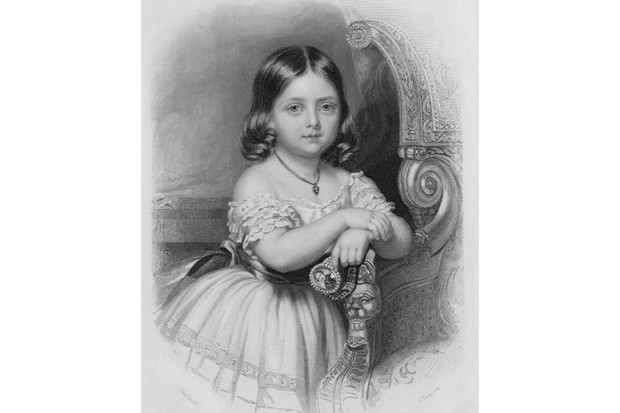 "An engraving of the young princess Victoria, who ""displayed a healthy enjoyment of food from her earliest years"", says Rebecca Earle. (Photo by Hulton Archive/Getty Images)"