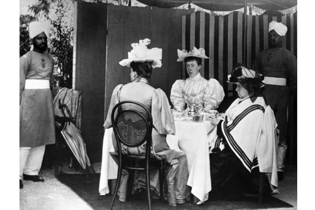 "Queen Victoria taking tea with her relatives. Tea ""has ever ranked high in the royal favour"", says Rebecca Earle. (Photo by Getty Images)"