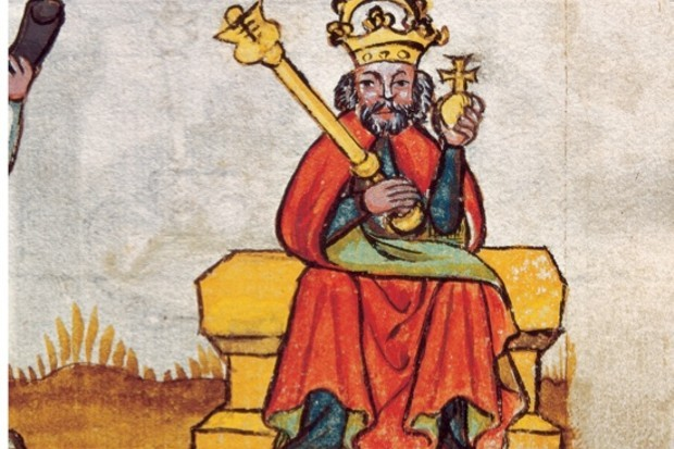An illustration of Charlemagne from around 1450. (Photo by Imagno/Getty Images)