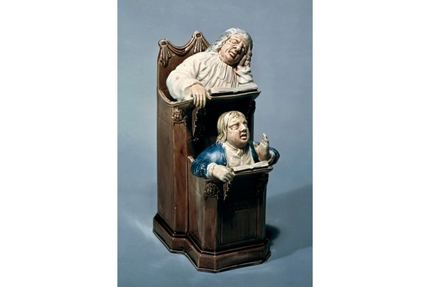 Terracotta vicar and Moses, c1770, in the Victoria And Albert Museum, London. (Photo by DeAgostini/Getty Images)