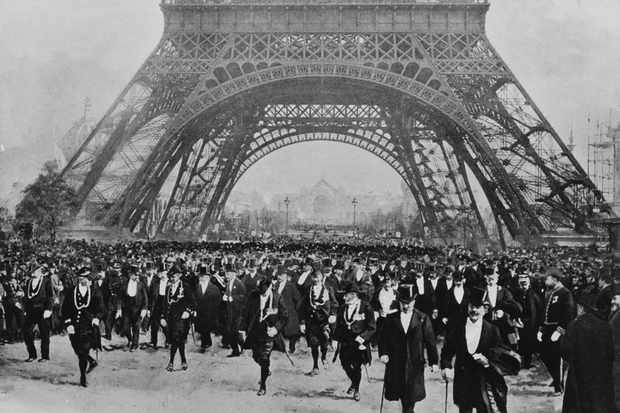 French government officials at an inaugural tour to mark the completion of the main structural work on the Eiffel Tower, c1889. (Time Life Pictures/Pix Inc./The LIFE Picture Collection/Getty Images)