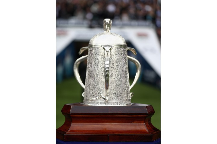 The Calcutta Cup, a rugby union trophy awarded to the winner of the annual Six Nations Championship match between England and Scotland.