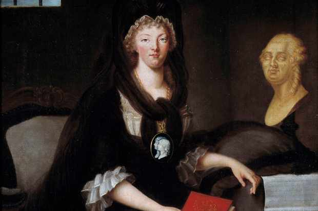 Portrait of Marie Antoinette in deep mourning, while in prison