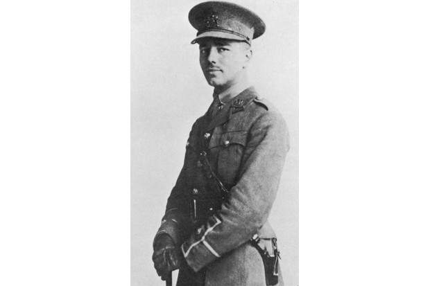 Portrait of Wilfred Owen wearing his military uniform in 1916. (Getty Images)