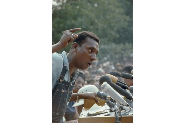 Stokely Carmichael addresses the March Against Fear Rally in Mississippi in June 1966. (Corbis)
