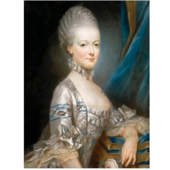 A portrait of Marie Antoinette by artist Joseph Ducreux, c1769. (Fine Art Images/Heritage Images/Getty Images)
