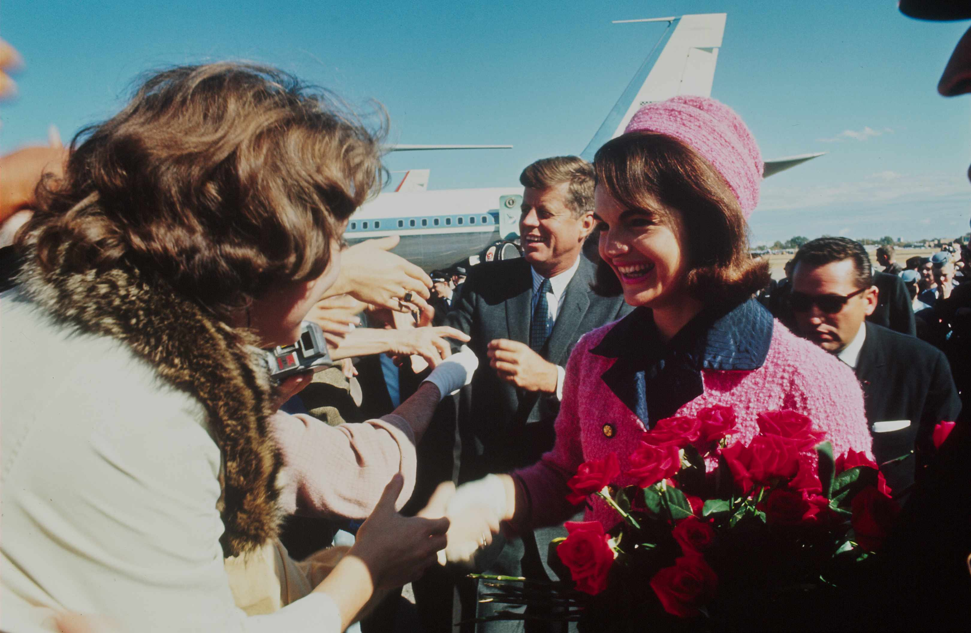 John and Jackie Kennedy shaking hands with a crowd. Jackie continued to fight her husband's corner after his death, says Mark White. (Photo by Art Rickerby/The LIFE Picture Collection/Getty Images)