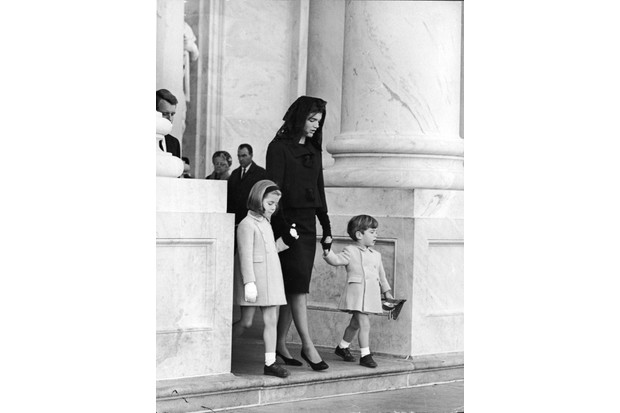 Jackie Kennedy at her husband's funeral. Four days later she undertook an interview with 'Life' magazine in an attempt to crystallise his reputation. (Photo by Express/Getty Images)