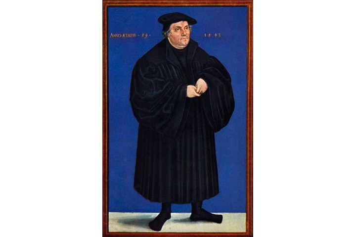 Portrait of Martin Luther by Lucas Cranach, 1543. (Photo by Culture Club/Getty Images)
