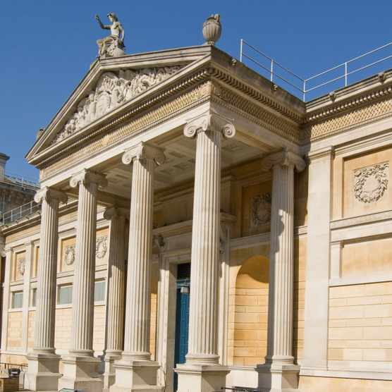 Portico entrance of Oxford's famous Ashmolean Museum. (Dreamstime)