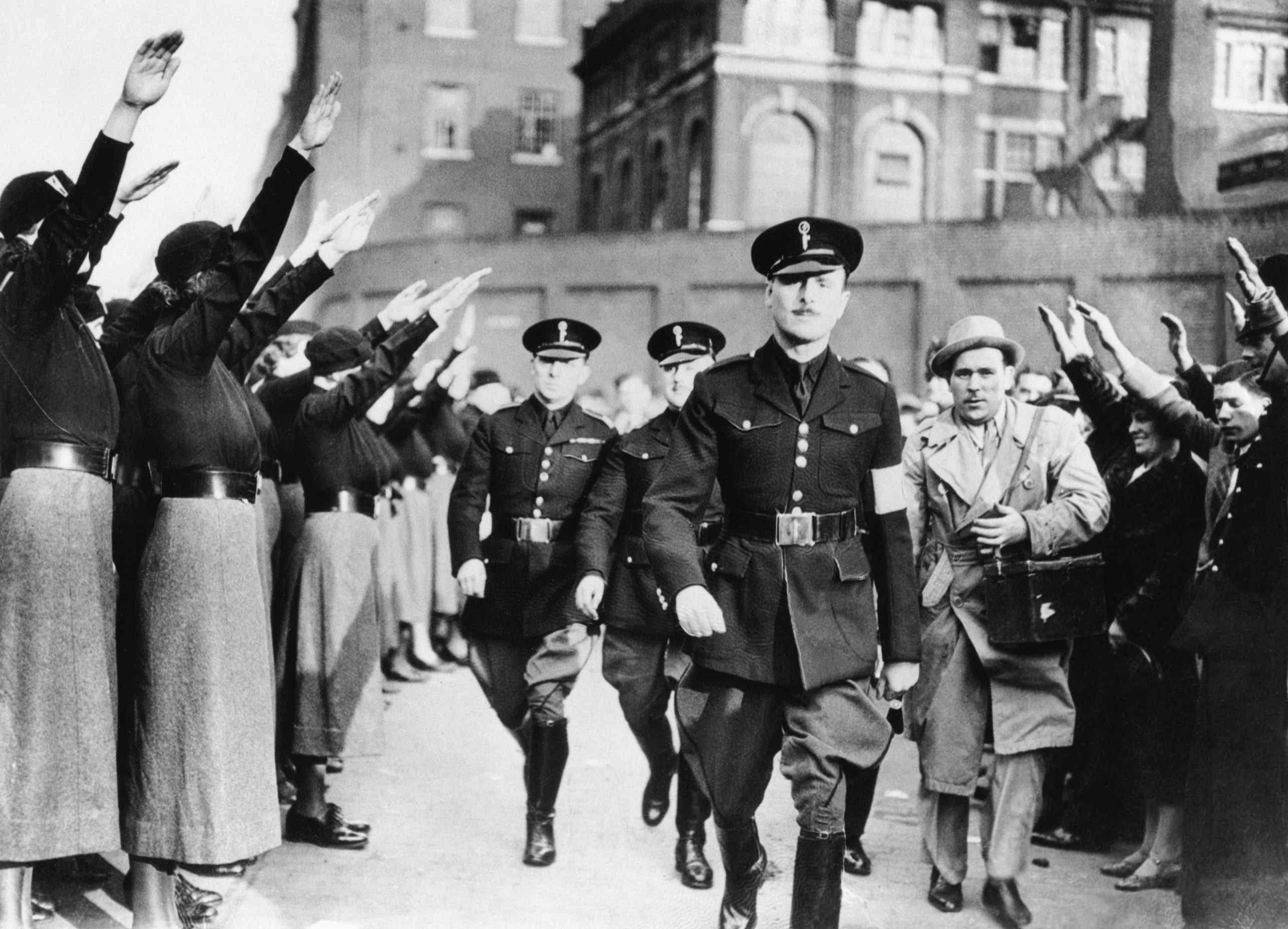 Oswald Mosley, leader of the British Union of Fascists