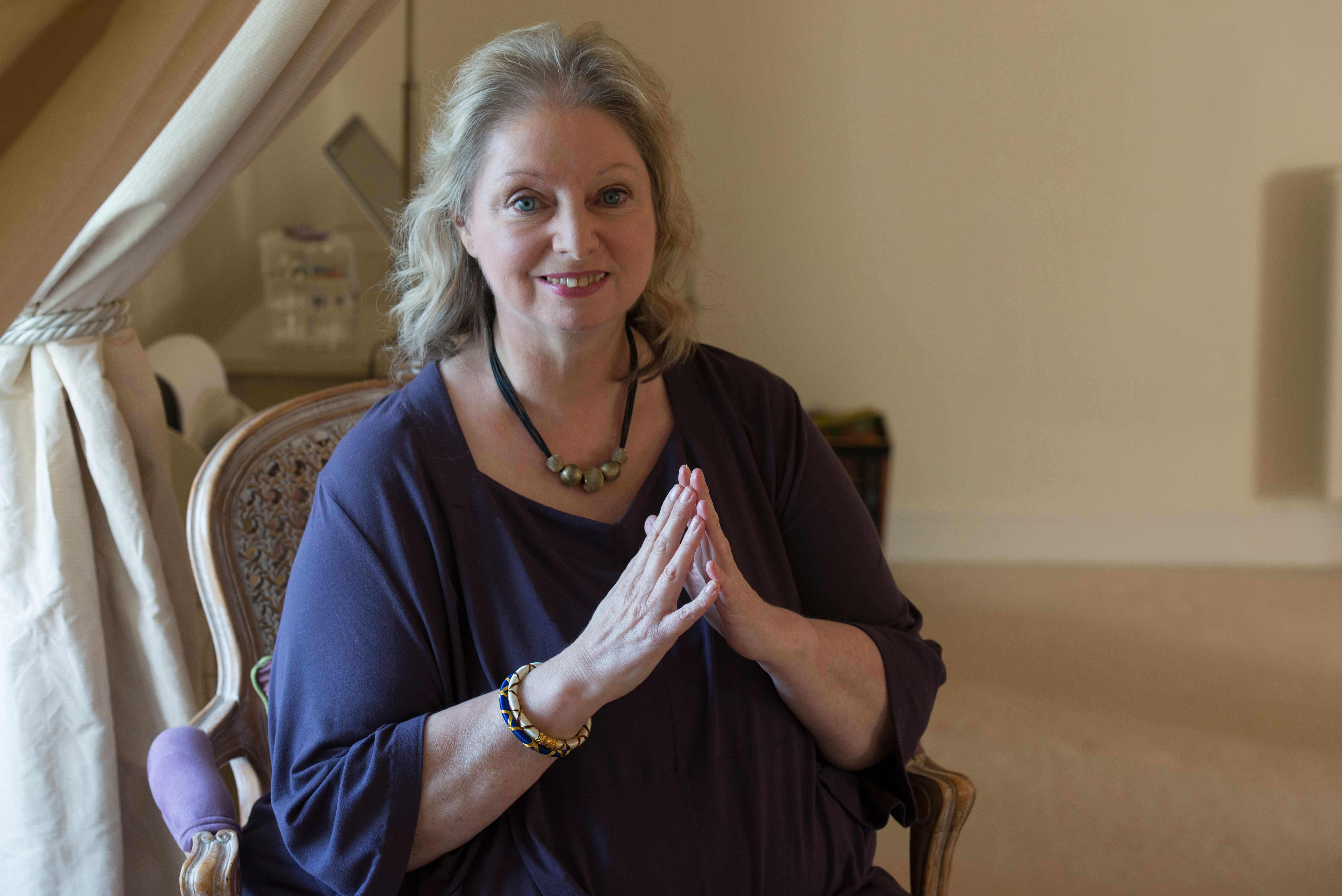 British writer Hilary Mantel photographed at home. (Photo by Lionel Derimais/Corbis Documentary/Getty Images)