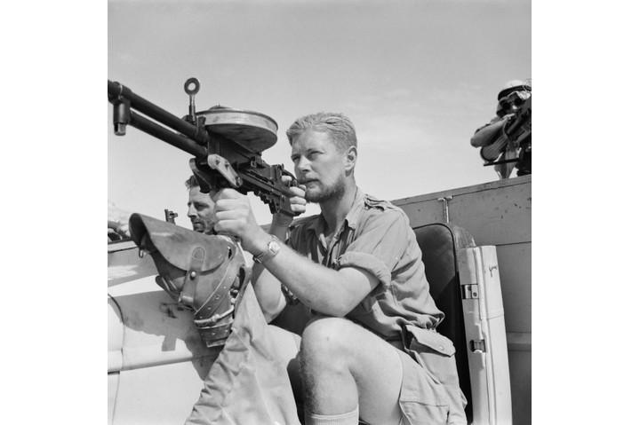 A member of a Long Range Desert Group (LRDG) patrol