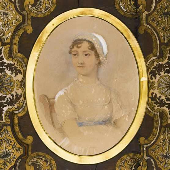 Portrait of Jane Austen (1775-1817). Artist: Andrews, James (active 19th cen.)