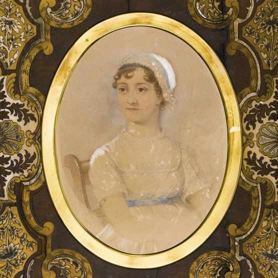 Portrait of Jane Austen (1775-1817). Artist: Andrews, James (active 19th cen.)