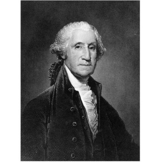 A portrait of George Washington. (Image by Getty Images)