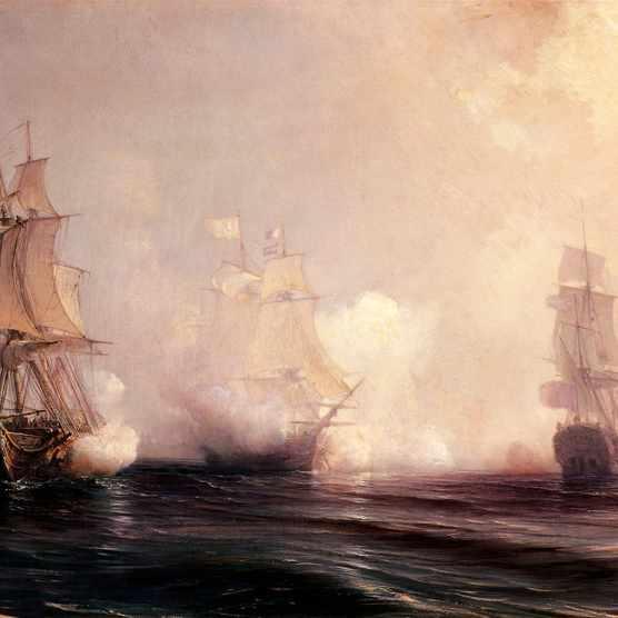 A Royal Navy battle
