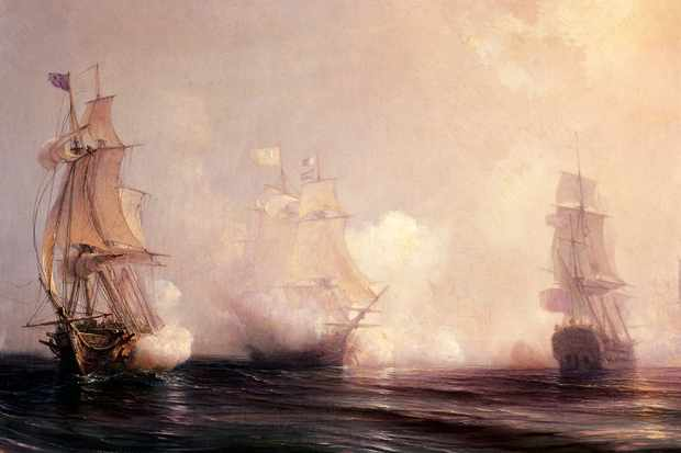 A Royal Navy battle